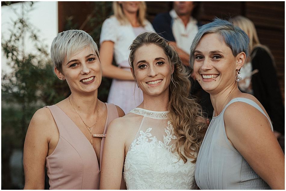 Braut mit Geschwister
