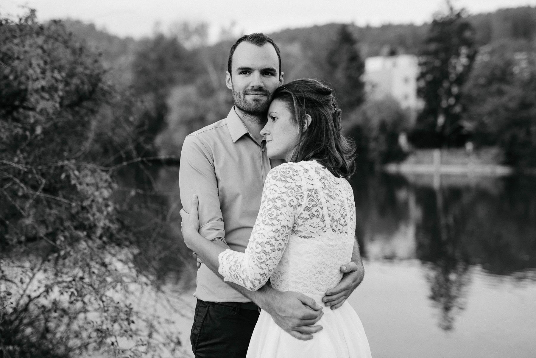 Paar Shooting an der Limmat