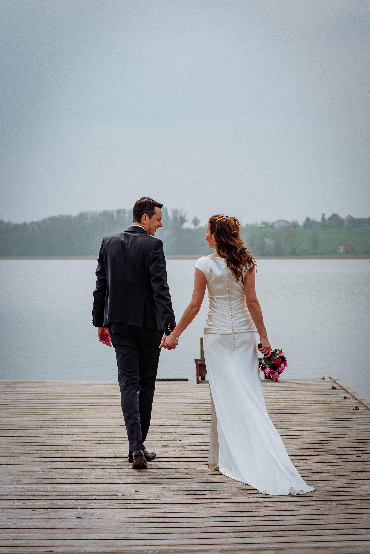 Romantische Brautpaarbilder am Pfäffikersee ZH