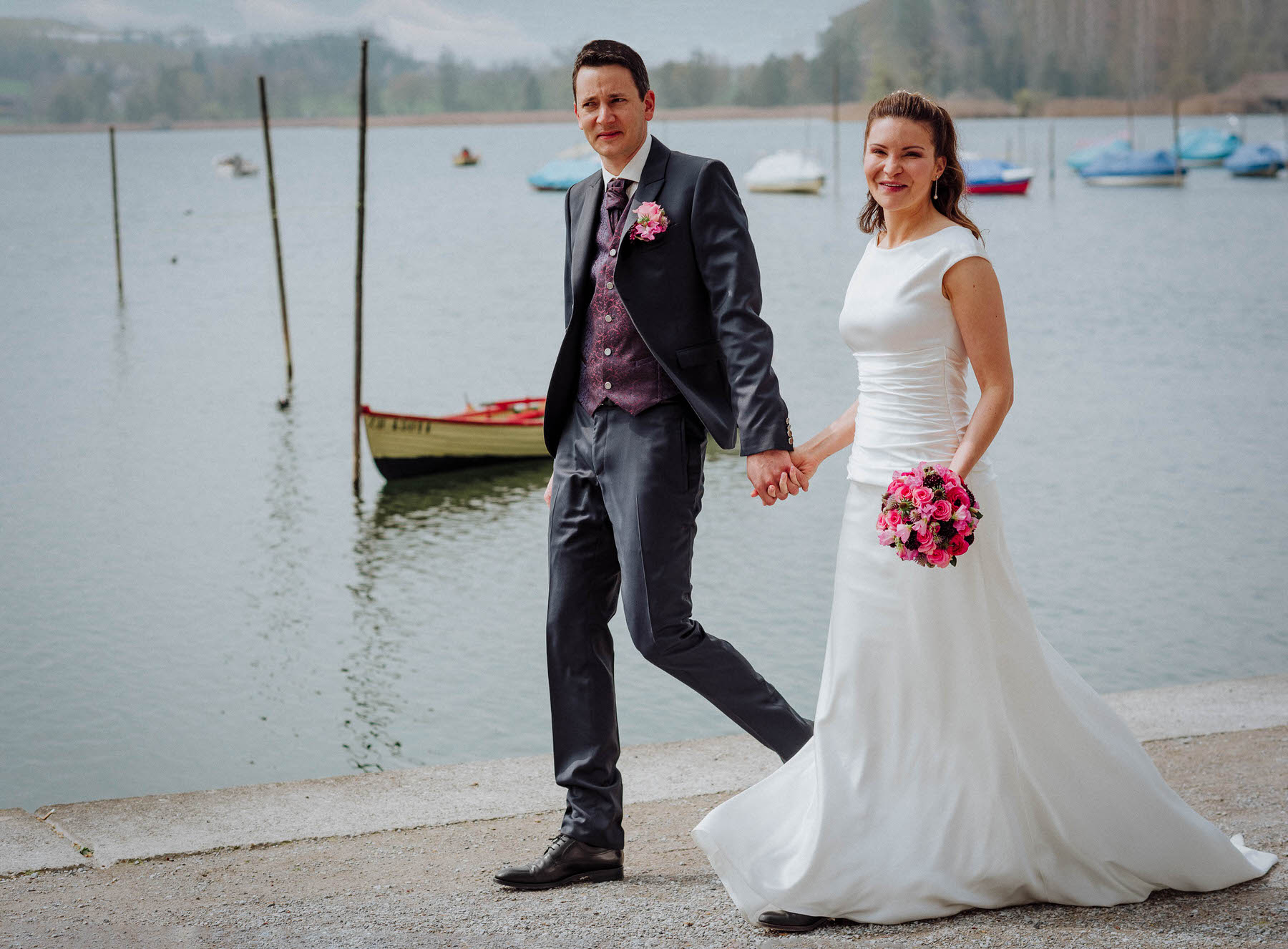Hochzeit Liebevoll Romantisch Ausgelassen