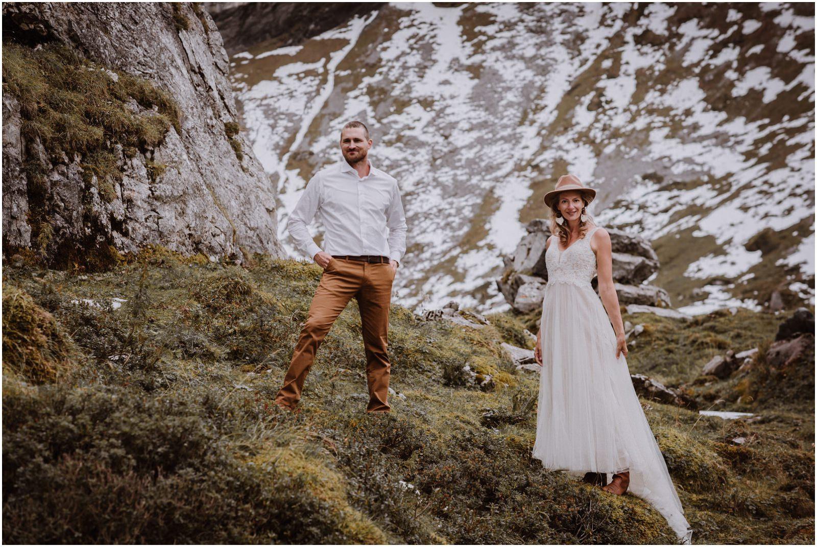 BOHO Hochzeit Berghochzeit Swiss Wedding